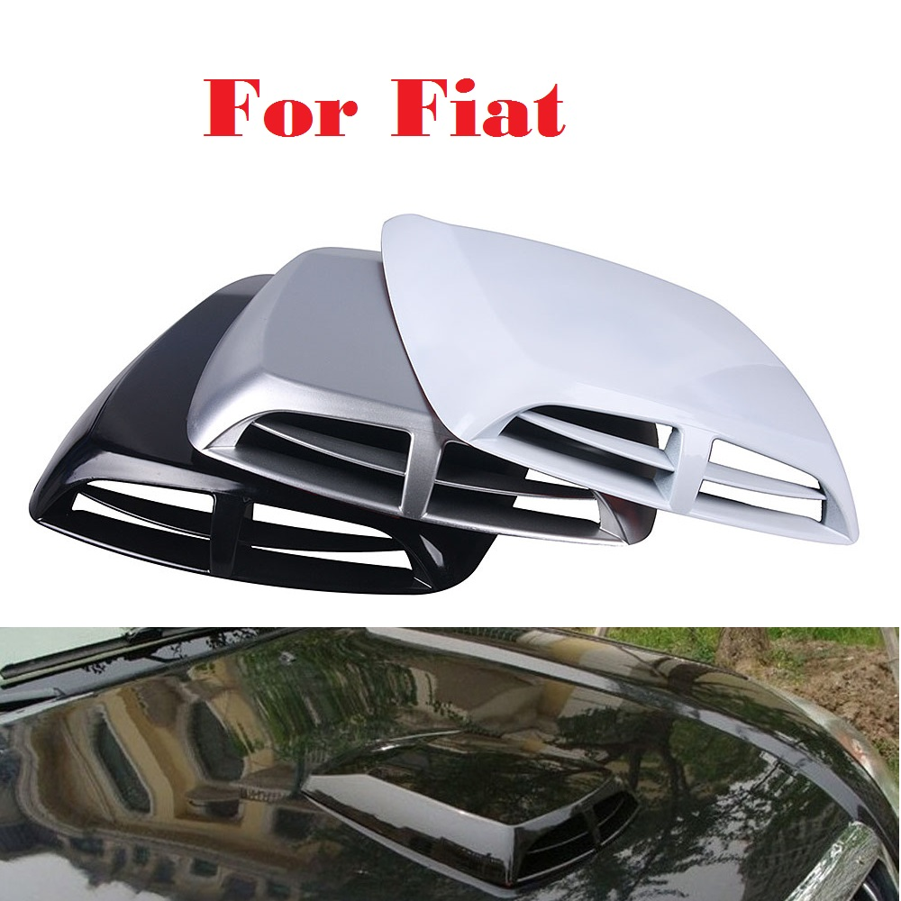 car styling Car Styling Air Flow Intake Hood Vent Bonnet Cover Stickers for Fiat Palio Panda Sedici Seicento Siena Stilo for fiat punto fiat 500 stilo panda small hole ventilate wear resistance pu leather front