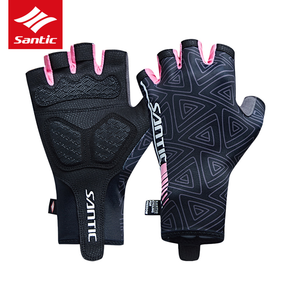 2018 Santic Cycling Gloves Women Half Finger Outdoor MTB Quick-Dry Gloves Summer Anti-slip Breathable Bike Bicycle Gloves Lady