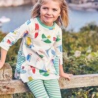[SAIID KOBEISY] Venta Caliente Ropa de Niños Niñas Princesa Vestido Fashioon Niños Ropa de la Muchacha Encantadora de Impresión Vestidos de Traje de Los Niños