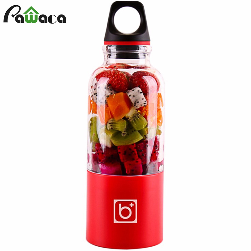 500ml Electric Juicer Cup Mini Portable USB Rechargeable Juicer Blender Maker Shaker Squeezers Fruit Orange Juice Extractor