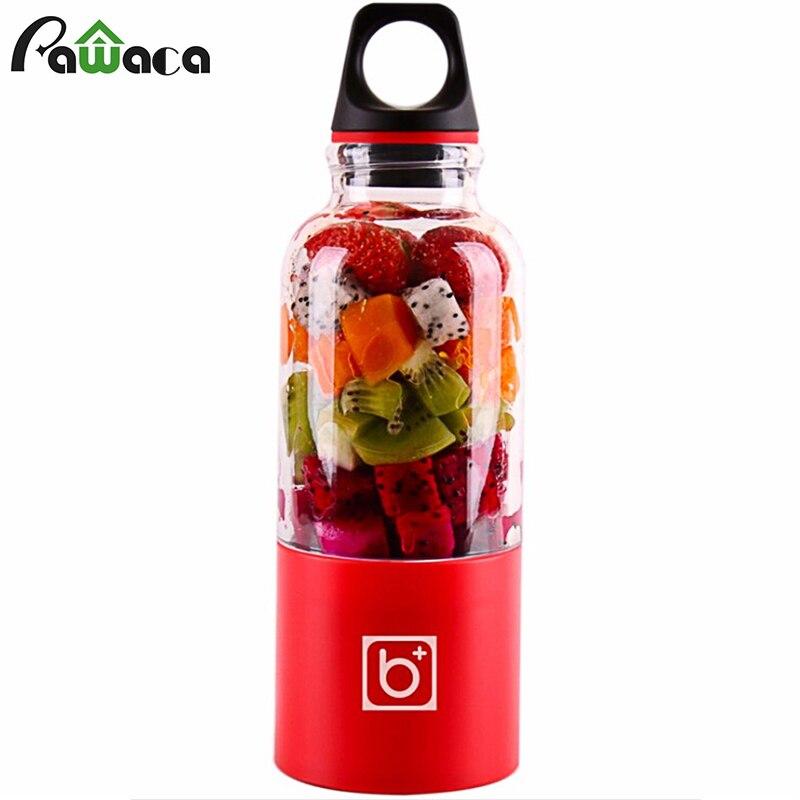 Exprimidor eléctrico de 500 ml Mini exprimidor portátil USB recargable exprimidor mezclador exprimidor Extractor de jugo de naranja de fruta
