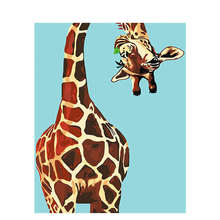 Decorative Canvas Painting By Numbers Animal,Diy Oil Giraffe