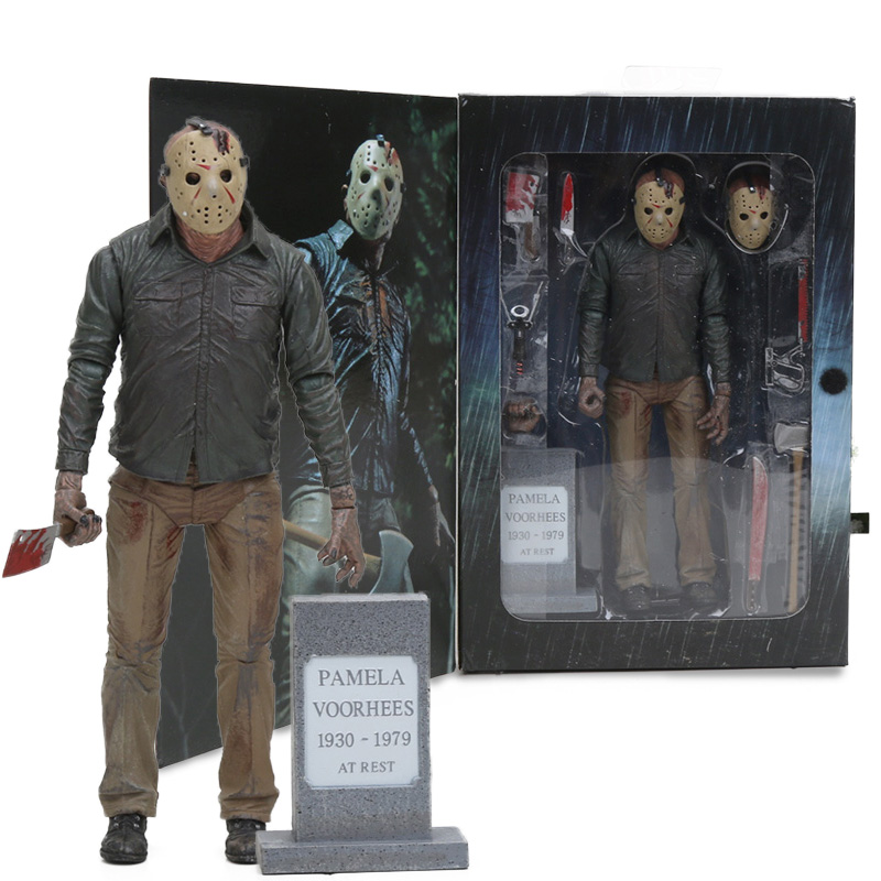 NECA Toys Friday The 13th The Final Chapter Ultimate Part 4 Jason Voorhees PVC Action Figure Gme 3D Freddy VS Jason Figure Model