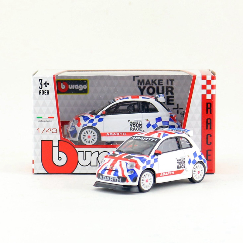 BBurago/<font><b>1</b></font>:<font><b>43</b></font> <font><b>Car</b></font>/Abarth <font><b>Fiat</b></font> 500 Assetto Corse Super Racing/Diecast Educational Collection/<font><b>Model</b></font>/Children/Delicate Gift image