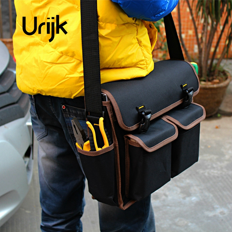 Urijk New Large Capacity Oxford Tool Bag Professional Electrician Toolkit Electric Repairing Hand Tools Case Satchel Wearable