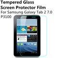 Protector de pantalla de cristal templado para samsung galaxy tab2 p3100 de 7 pulgadas a prueba de agua templado película protectora delgada para p3100