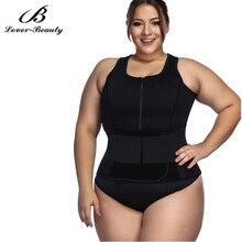 Lover Beauty Sweat Sauna Body Shapers Plus Size Neoprene Vest Waist Trainer Slimming Vest Shapewear Weight Loss   A