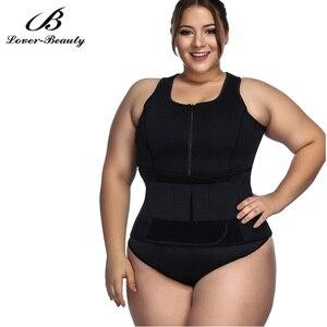 Image 1 - Lover Güzellik Ter Sauna Vücut Şekillendirme Artı Boyutu Neopren Yelek Bel Eğitmen Zayıflama Yelek Shapewear Kilo Kaybı A