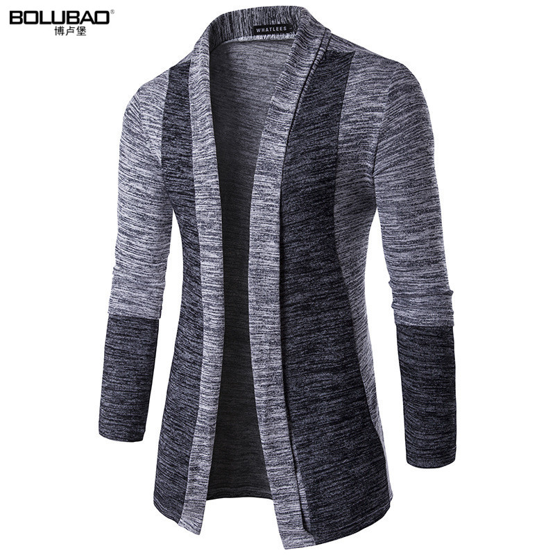 BOLUBAO Hot Sale Brand-Clothing Spring Cardigan Male Fashion Quality Cotton Sweater Men Casual Gray Redwine Mens Sweaters