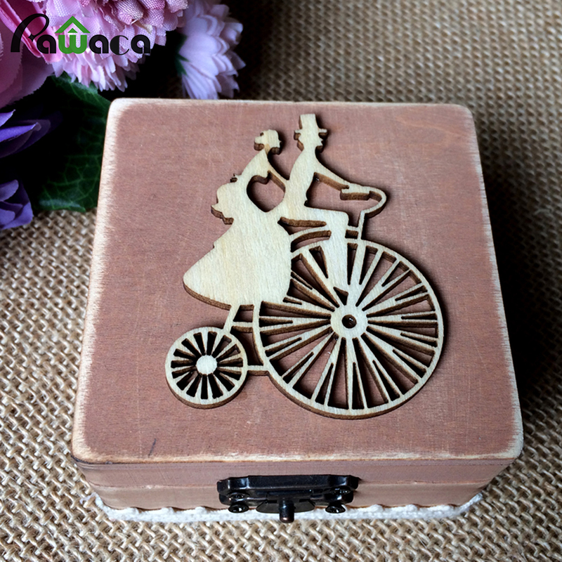 Us 702 32 Offvintage Wooden Ring Box Country Style Bicycle Lovers Mr Mrs Love Key Wooden Ring Holder Unique Wedding Decorative Jewelry Box In