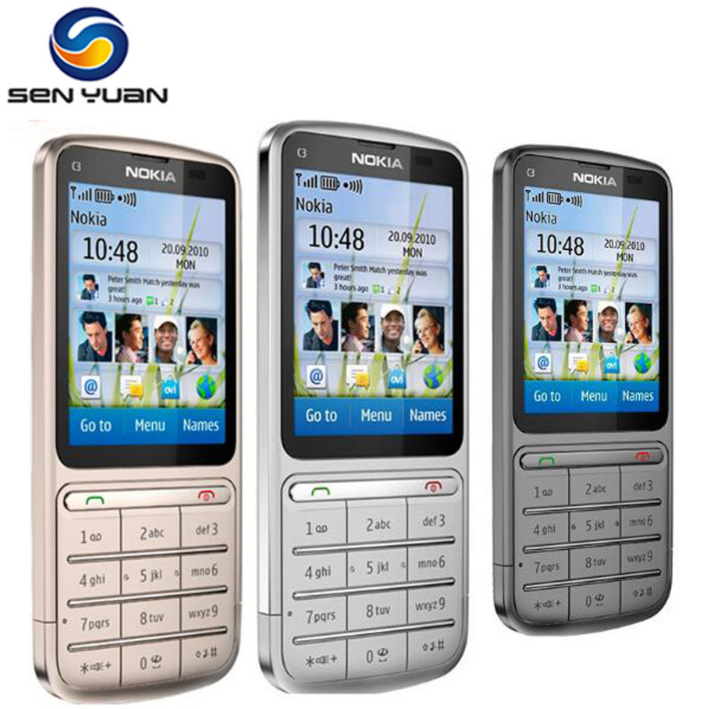 """Original Nokia C3 01 unlocked Cell Phone 3G WIFI Bluetooth 5MP 2.4"""" Touch  Screen c3 01 phone -in Mobile Phones from Cellphones & Telecommunications  on ..."""