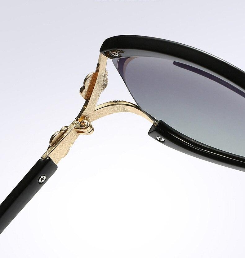 Aowear Для женщин Поляризованные овальные Защита от солнца galsses Роскошный цветок камелии женский Защита от солнца Очки цветок кристалл украшения очки Óculos De Sol
