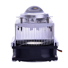 Aluminium Heat Sink Cooling Fan 20-100W LED radiator 60-90degree 44mm Lens + Reflector Bracket DC12V 1.25A led Driver