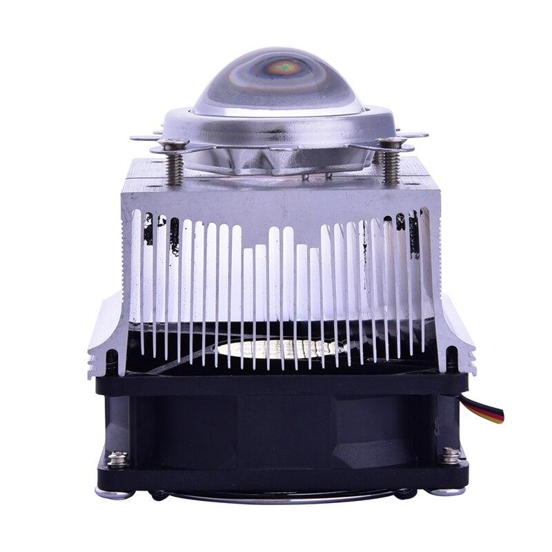 Aluminium Heat Sink Cooling Fan 20-100W LED radiator 60-90degree 44mm Lens + Reflector Bracket DC12V 1.25A led Driver(China)