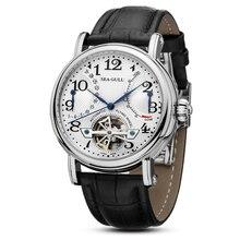 Freizeit Automatische Mechanische Echtem Leder Wasserdichte Uhr mit Rom Digital Business für Verschiedene Anlässe M172S. Br