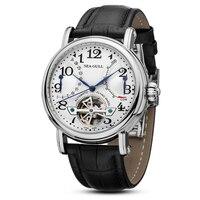 Leisure Automatische Mechanische Lederen Waterdicht Horloge met Rome Digitale Business voor Diverse Gelegenheden M172S. Br