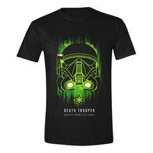 NEW! Star Wars Mens Rogue One Death Trooper T-Shirt XL Black TS010ROG-XL Free shipping  Harajuku Tops free