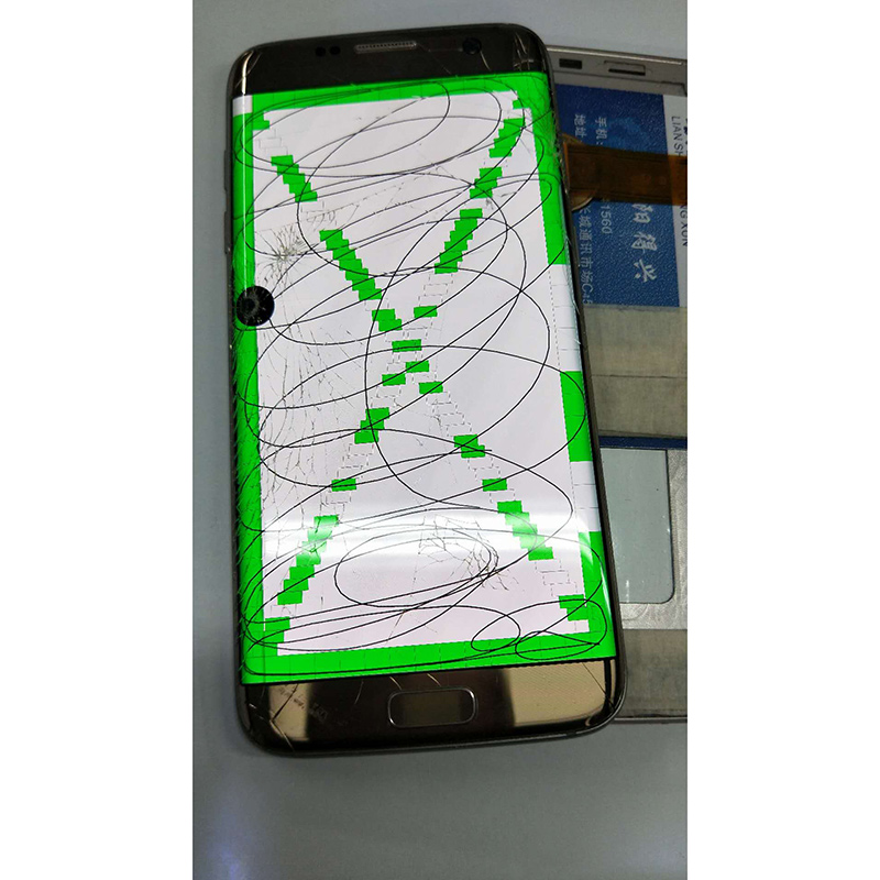 Broken <font><b>LCD</b></font> for <font><b>Samsung</b></font> S6edge/S7edge /s8+plus black dot line useless <font><b>lcd</b></font> for practicing separating <font><b>display</b></font> and touch with frame image