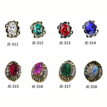 10pcs/lot 3d Nail Art Charms Alloy Gems 8Styles Strass Decoration Rhinestones Charm For DIY Tips Accessories#JE