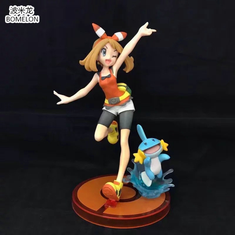 New May+ Mudkip Group Action Figures Flora+Gobou Anime Toy Figure Kawaii Aura Model Brinquedos Boys Toys For Children Gift