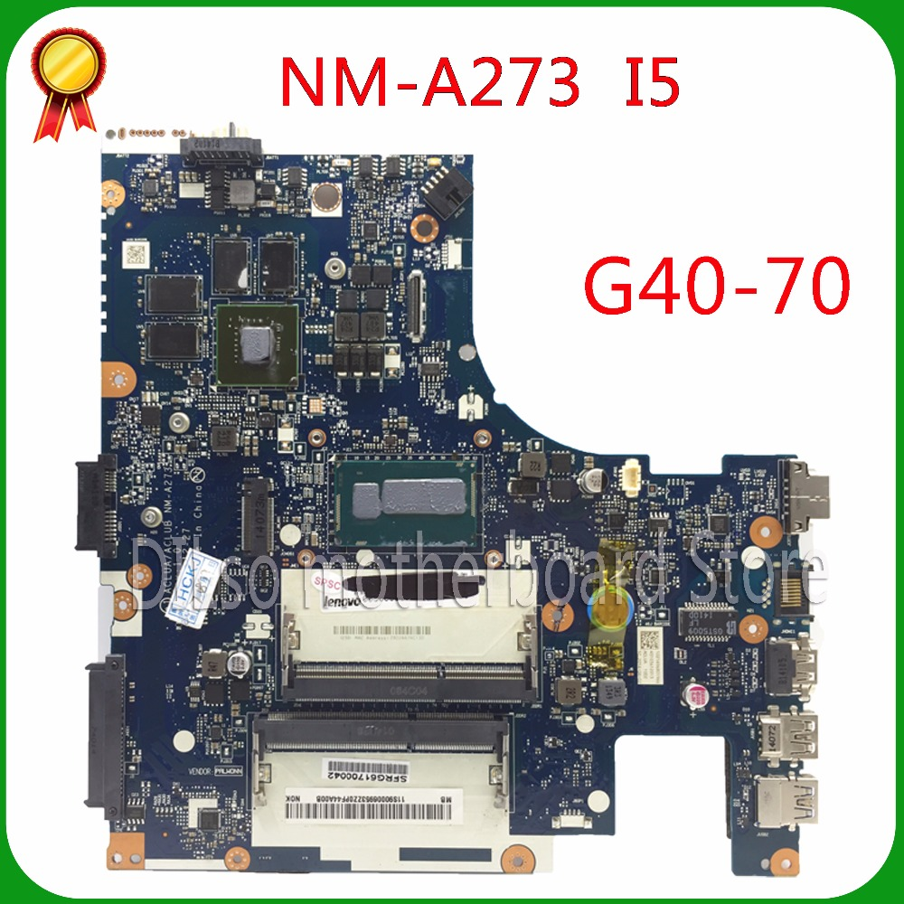 For Lenovo  g40-70 i5 motherboard ACLUA/ACLUB NM-A273 Rev1.0 840M 2GB video card with graphics card 100% tested for lenovo g50 70 i5 motherboard aclua aclub nm a273 rev1 0 840m 2gb video card with graphics card 100