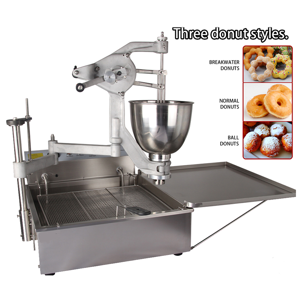 MARCHEF T102 Manual Operated Commercial Donut Fryer Machine , Ball Donut Machine automatic commercial donut frying machines donut making machine