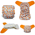 JinoBaby Fox AIO Cloth Diaper - Bamboo Care for Babies Newborn to 35 Pounds