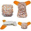 Jinobaby фокс AIO ткань пеленки - бамбук уход для младенцев новорожденных до 35 фунтов