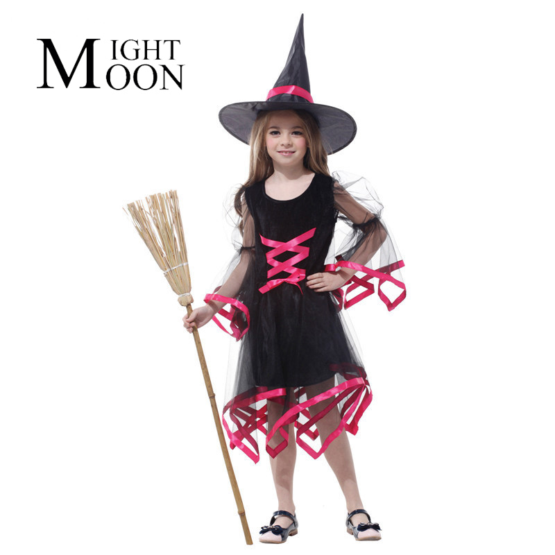 MOONIGHT Halloween Costume Party Of The Girls Flying Witch Lovely Witch Costume for Cosplay Costume