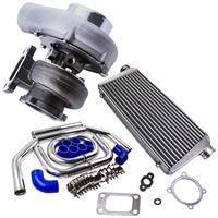 Uni. GT35 GT3582 Turbo + 2.5 64mm Intercooler Pipe Kit + 600x300x76 For Ford Falcon BA/BF XR6 FPV F6 & 64mm Pipe Kits