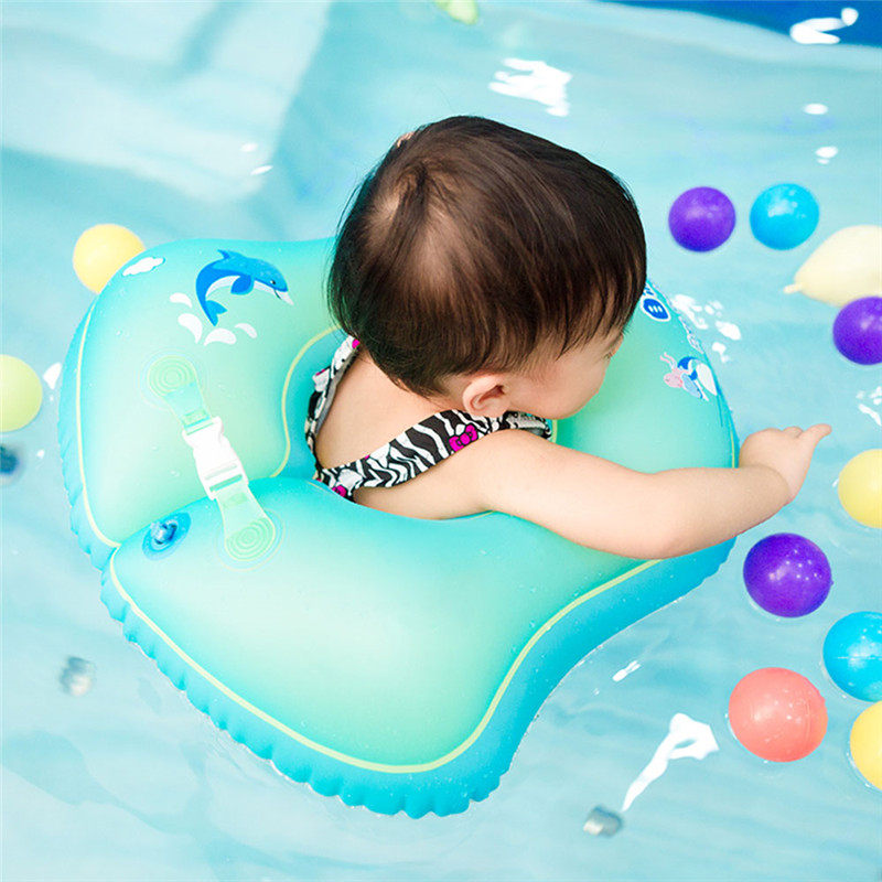 Baby Swimming Ring Inflatable Infant Armpit Floating Kids Swim Pool Accessories Circle Bathing Inflatable Double Raft Rings Toys
