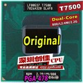 Бесплатная Доставка для цпу intel ноутбук Core 2 Duo T7500 CPU 4 М Разъем 479 Кэш/2.2 ГГц/800/Двухъядерный Ноутбук процессор поддержка 965