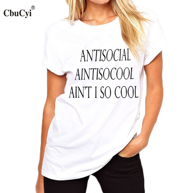 An t I So Cool T Shirt Hipster Women s streetwear Punk Rock Tee Shirt Femme