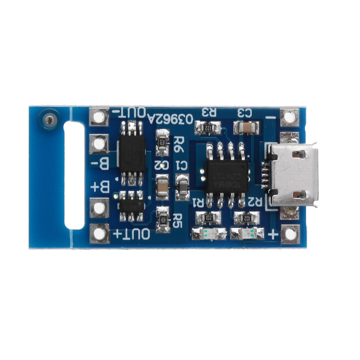 1PC New Arrival TP4056 Micro USB 5V 1A Lithium Battery Charging Module Board TE585 Lipo Charger