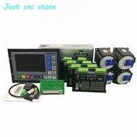 CNC mach3 USB 4 Axis Kit, 4pcs M542C driver+ DDCS V3.1 controller board+ 4pcs HS21A 57 stepper motor +power supply