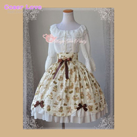 Multicolor Cotton Lolita Dress With Lace Up Bow for Women Lolita Dress !