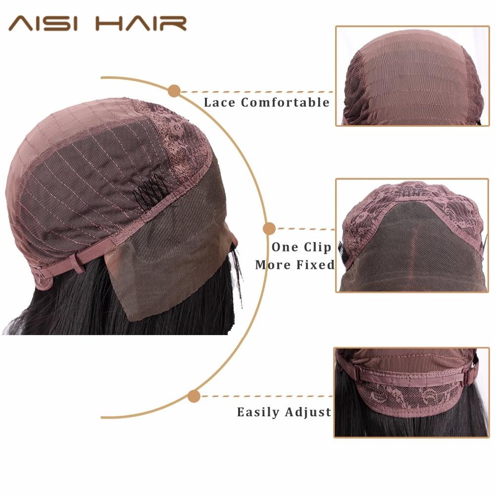 Image 4 - AISI HAIR  Black Long Wavy Wig Synthetic Lace Front Wigs for Black Women Natural Part Heat Resistant Fiber Wigombre wig heat resistantombre womenombre color -