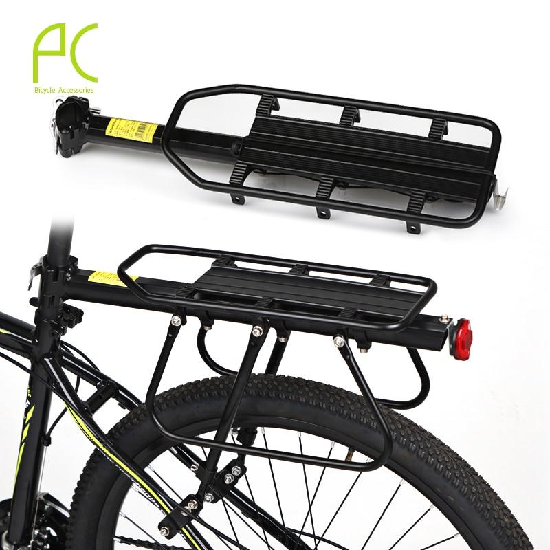 ФОТО 100kg Capacity Bike Racks Bike Luggage Bicycle Accessories Equipment Stand Footstock V Brake Disc Bicycle Kickstand Bicycle Rack