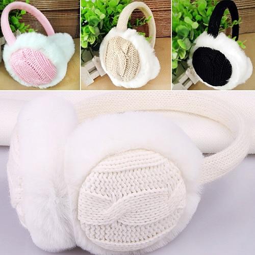 Women Girl Winter Warm Kint Earmuffs Earwarmers Ear Muffs Earlap Warmer Headband
