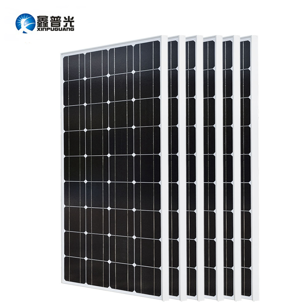 Xinpuguang 600w Solar System Kit 6*100w Solar Panel Monocrystalline Silicon Cell Photovoltaic Module Home Roof Power Generation