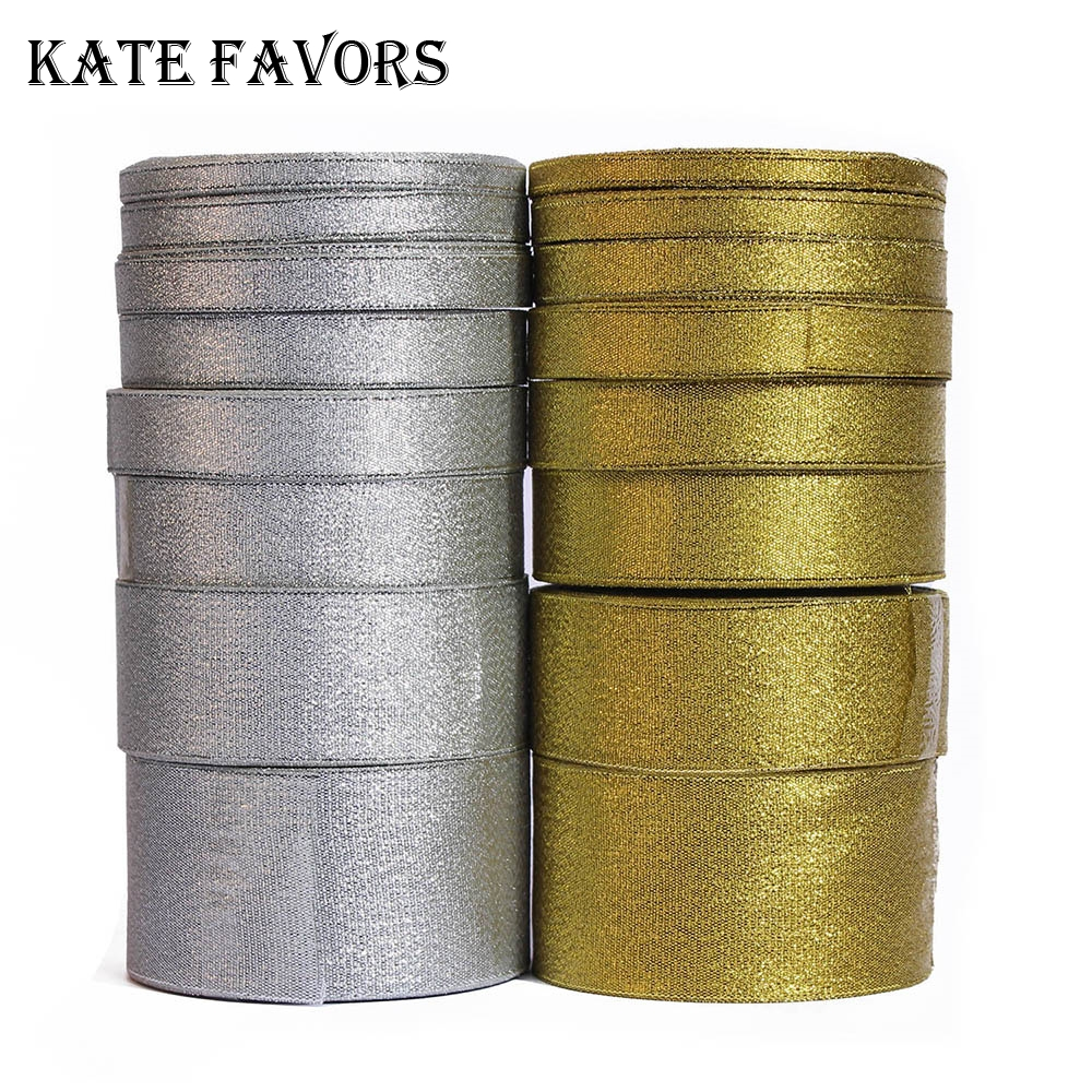 LUREX RIBBON METALLIC GOLD /& SILVER 2 SIZES FAVOUR DECOR CRAFT FREE DELIVERY