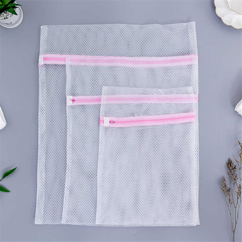 Home Using Clothes Wash Bag Convenient Bra Underwear Laundry Bags Protect Coarse Mesh Washing Machine Aid Lingerie Net Pouch
