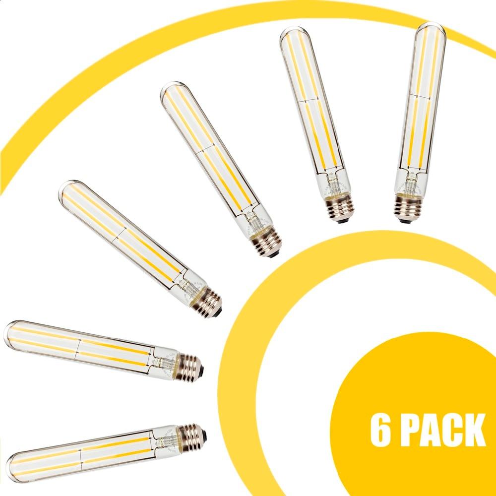 6Pcs 6W T30 LED Filament Bulb 110V 220V E27 Dimmable Retro Bulb Holiday Wedding Powerful Leds Hotel Decor chandelier lighting
