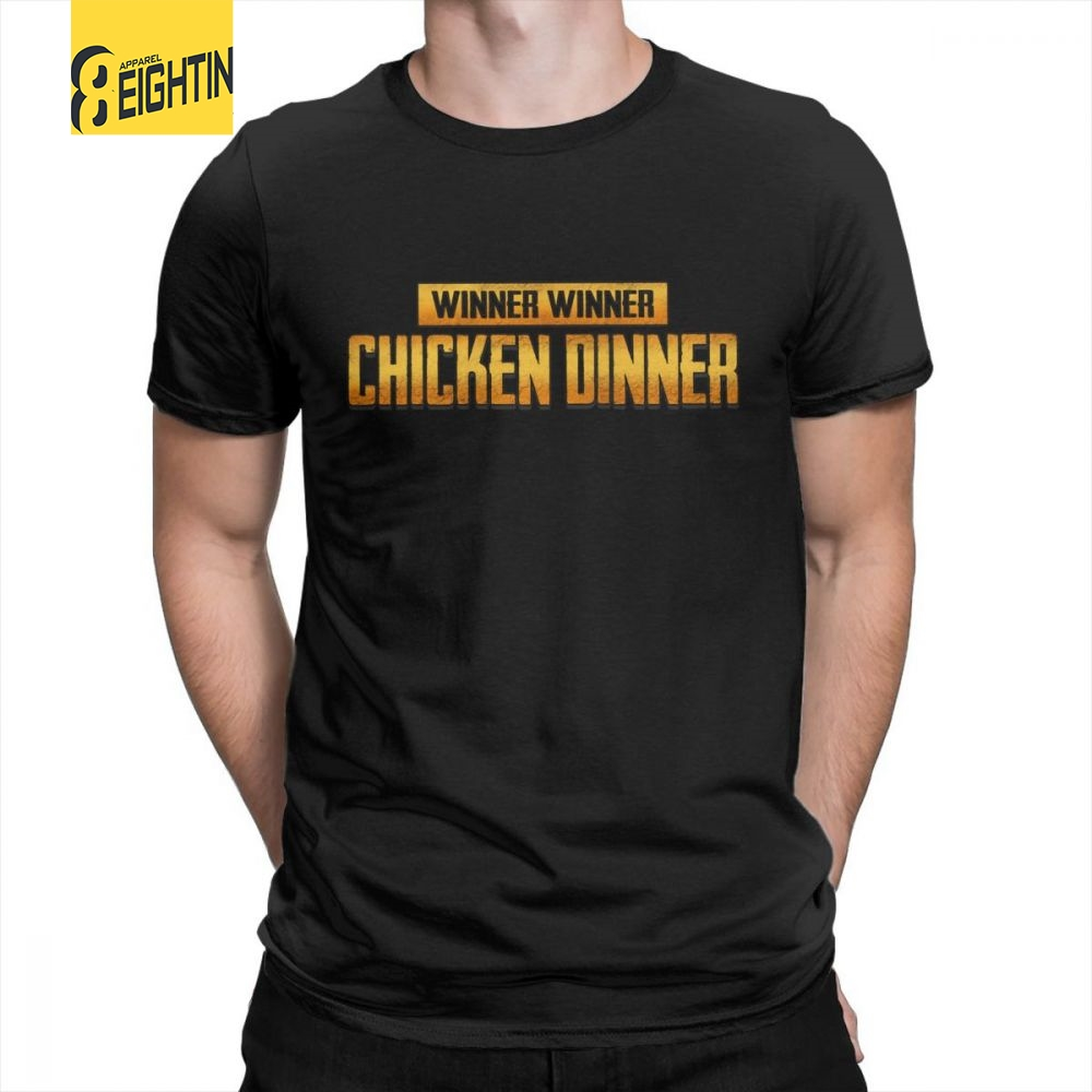 c1d9ee1097f PUBG WINNER WINNER Tees Printed Crewneck T-Shirt Birthday Gift 100% Cotton T -
