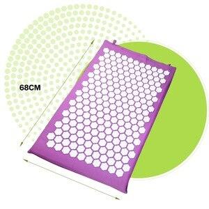 Image 2 - Акупрессурный коврик Shakti ABS, Массажная подушка для улучшения сна, Массажная подушка для головы и ног, коврик для снятия стресса, игла для снятия стресса, коврик для йоги