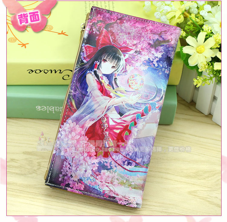 Anime TouHou Project Cosplay Cartoon wallet long male and female students fashion wallet child birthday gift anime stray dogs cosplay anime backpack male and female student campus leisure bag child birthday gift