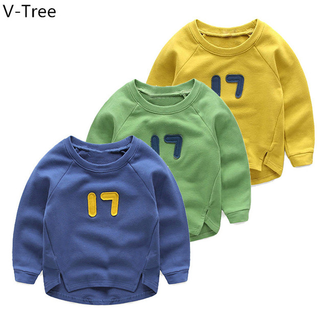 Spring Boys Cotton Hoodies Baby Kids Long Sleeve Solid Hoodie Toddler Soft Cute T-Shirt Children Sweatshirt Cloth S2S003