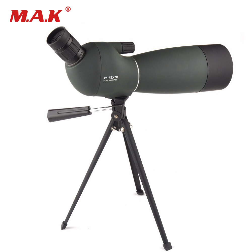 Monocular 25-75X70 Zoom HD Astronomical Telescope Bird Watching Spotting Scope Waterproof Outdoor Telescope 20 60x60ae hd wide angle high power bird photography astronomical monocular binoculars telescope spotting scope