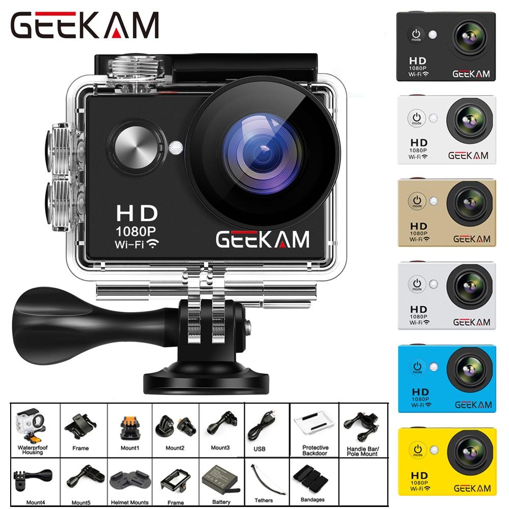 GEEKAM W9 Action Kamera Ultra HD 1080 P 12MP WiFi 2,0