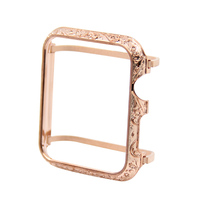18kt rose gold case bezel cover with diamonds for Apple Watch cover 38mm 42mm fashion crystals cases free shipping